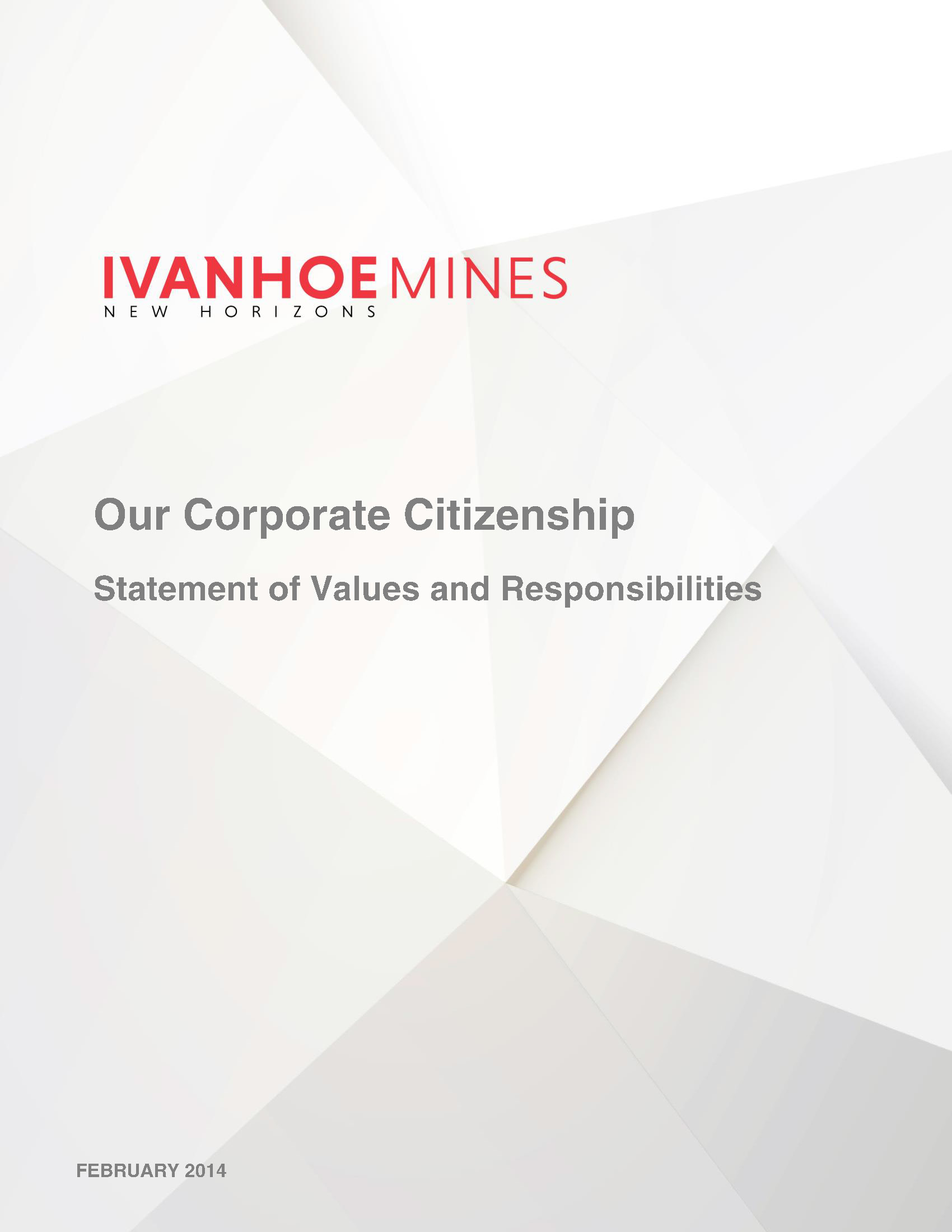 Statement of Values and Responsibilities